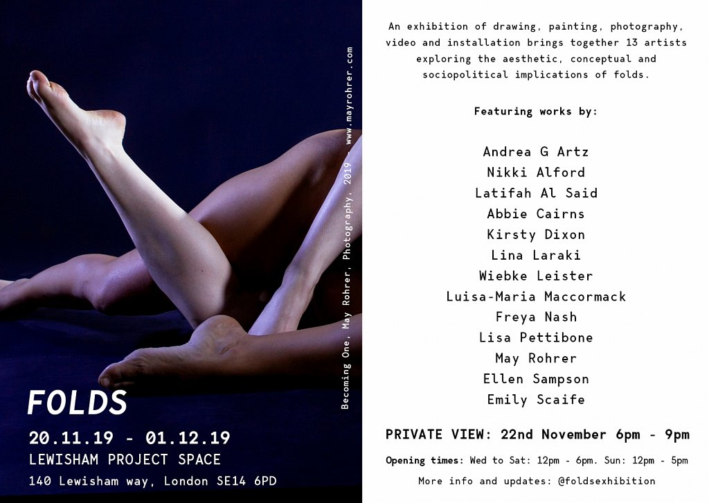Folds Exhibition, London, 2019.